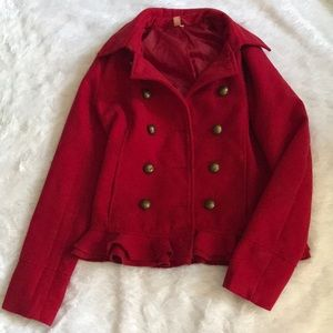 Short Red Peacoat